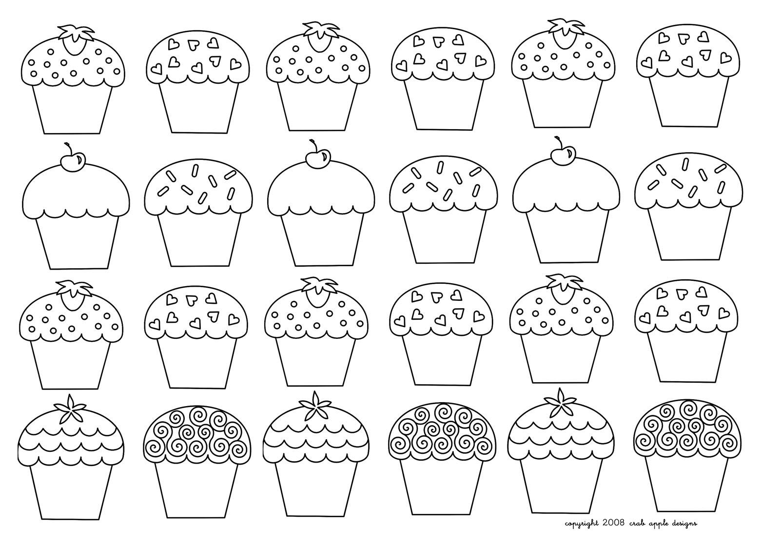 Mosaique Cupcakes Enfantins