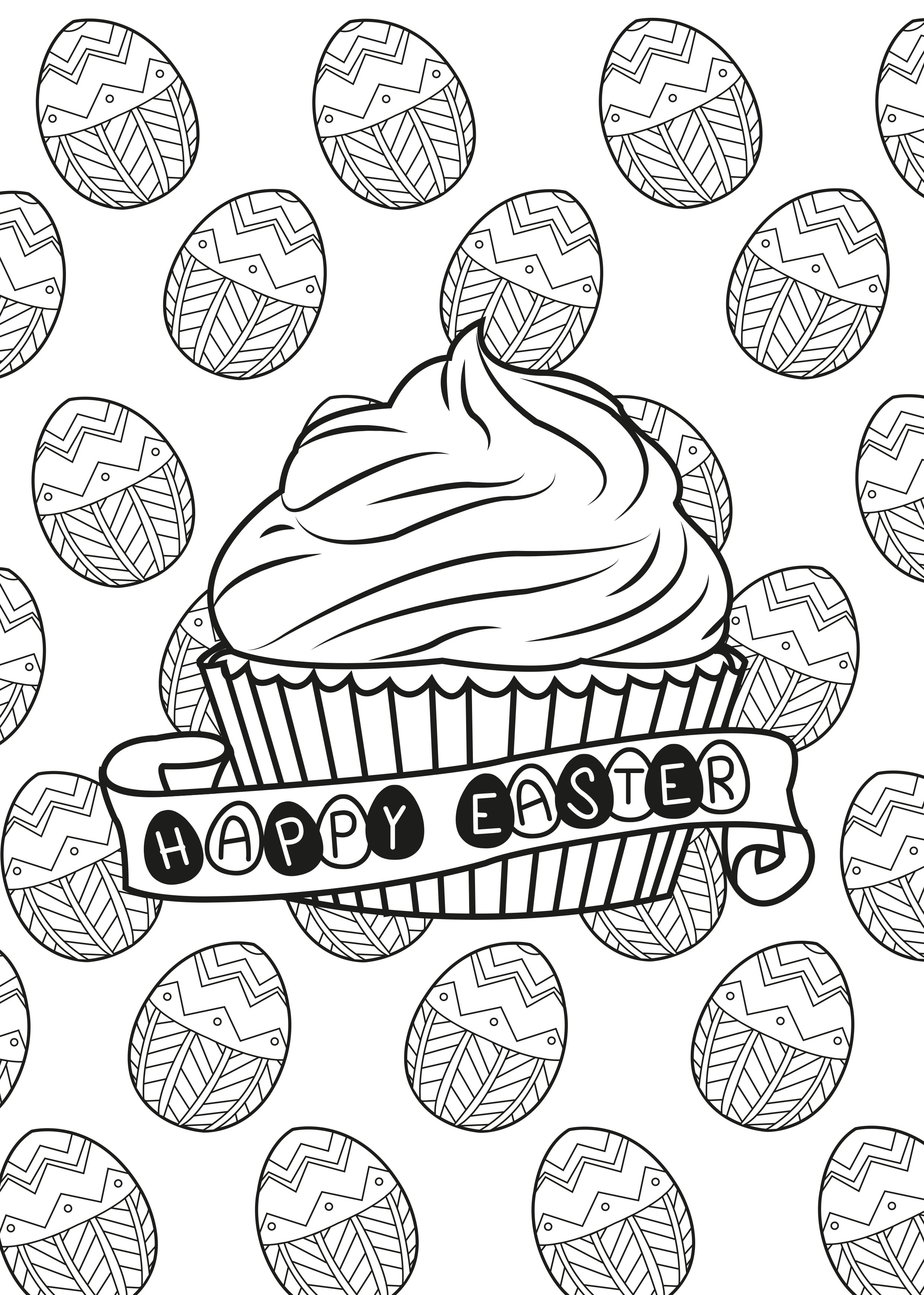 Easter Egg Muffin By Allan Cupcakes And Cakes Coloring Pages