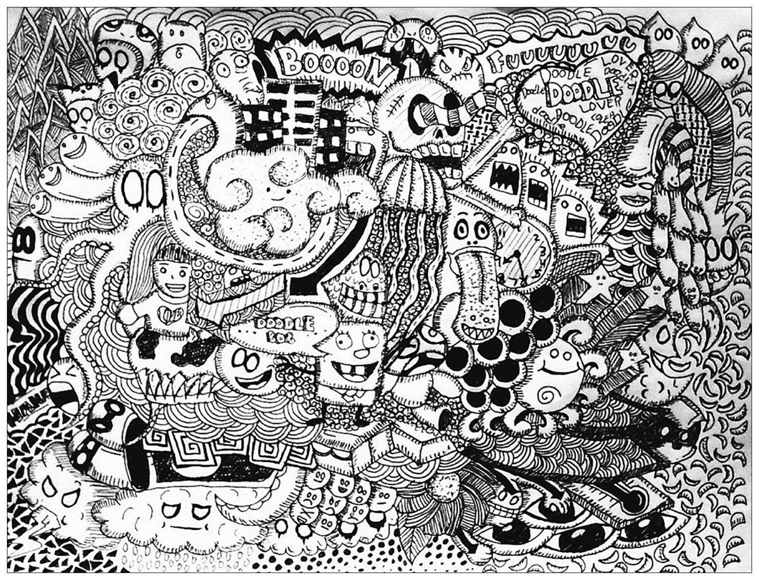 Doodle Lover By Bon Arts Doodling Doodle Art Coloring Pages