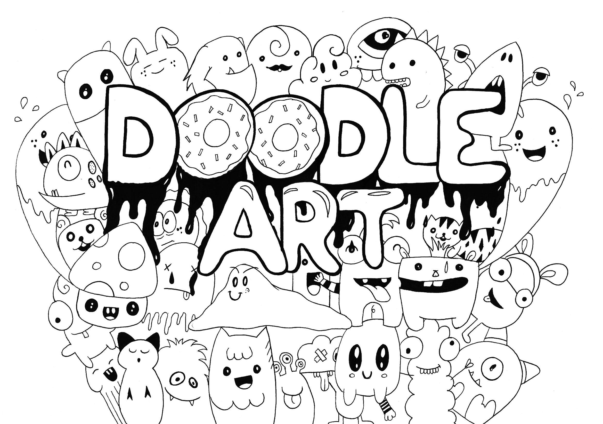 Doodle Art Rachel Doodling Doodle Art Coloring Pages For