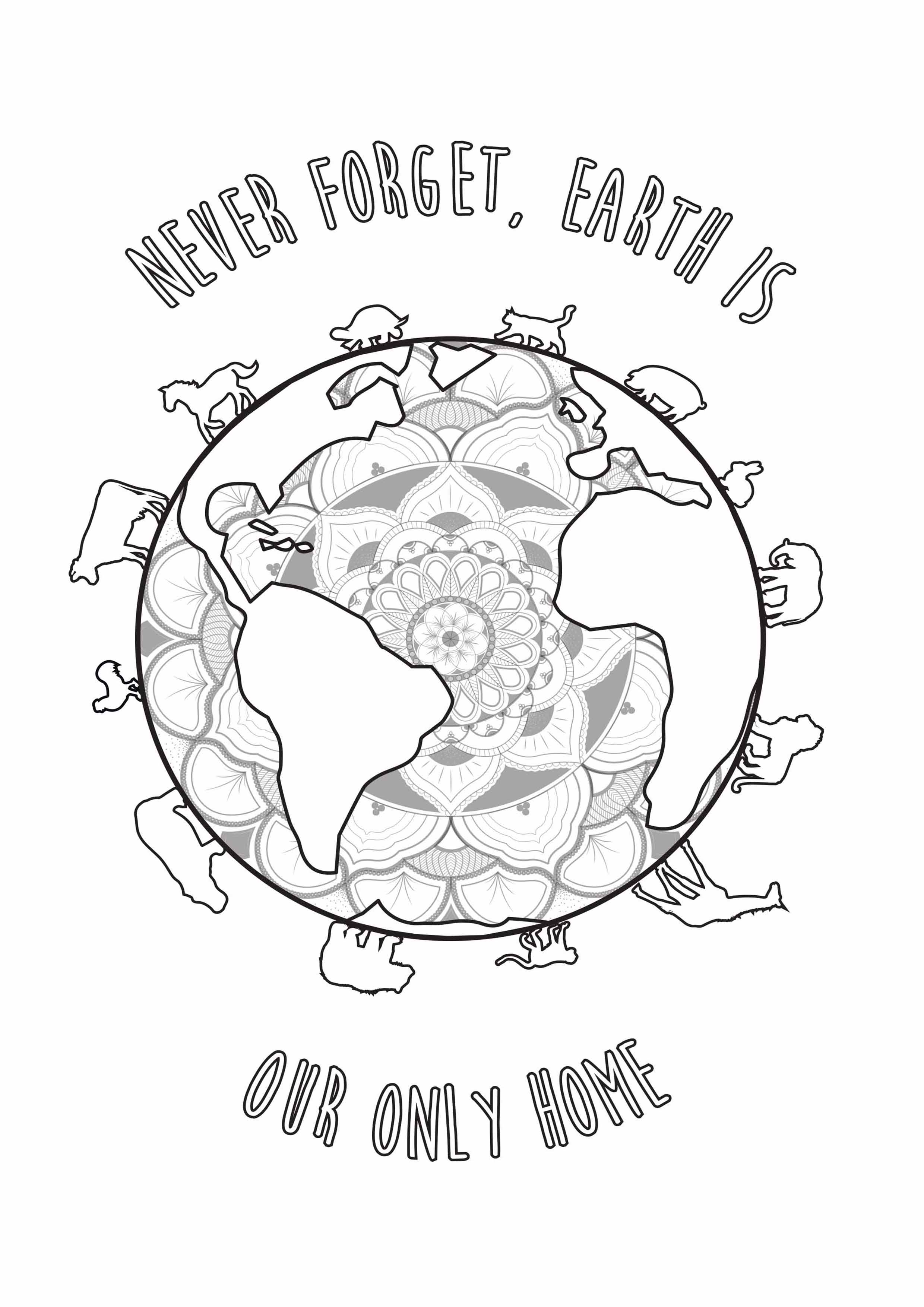 Earth Day By Louise Earth Day Adult Coloring Pages
