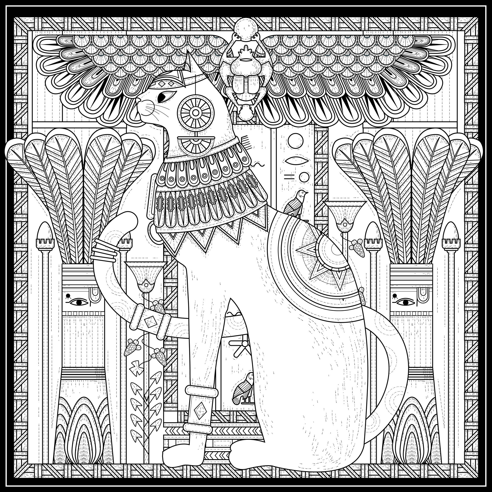 Egyptian Coloring Pages For Adults