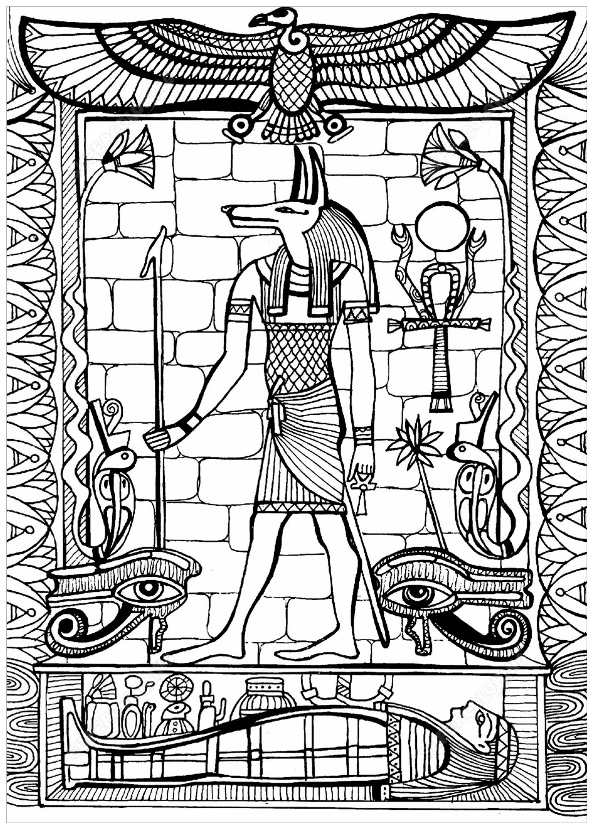 Anubis God Of Ancient Egypt