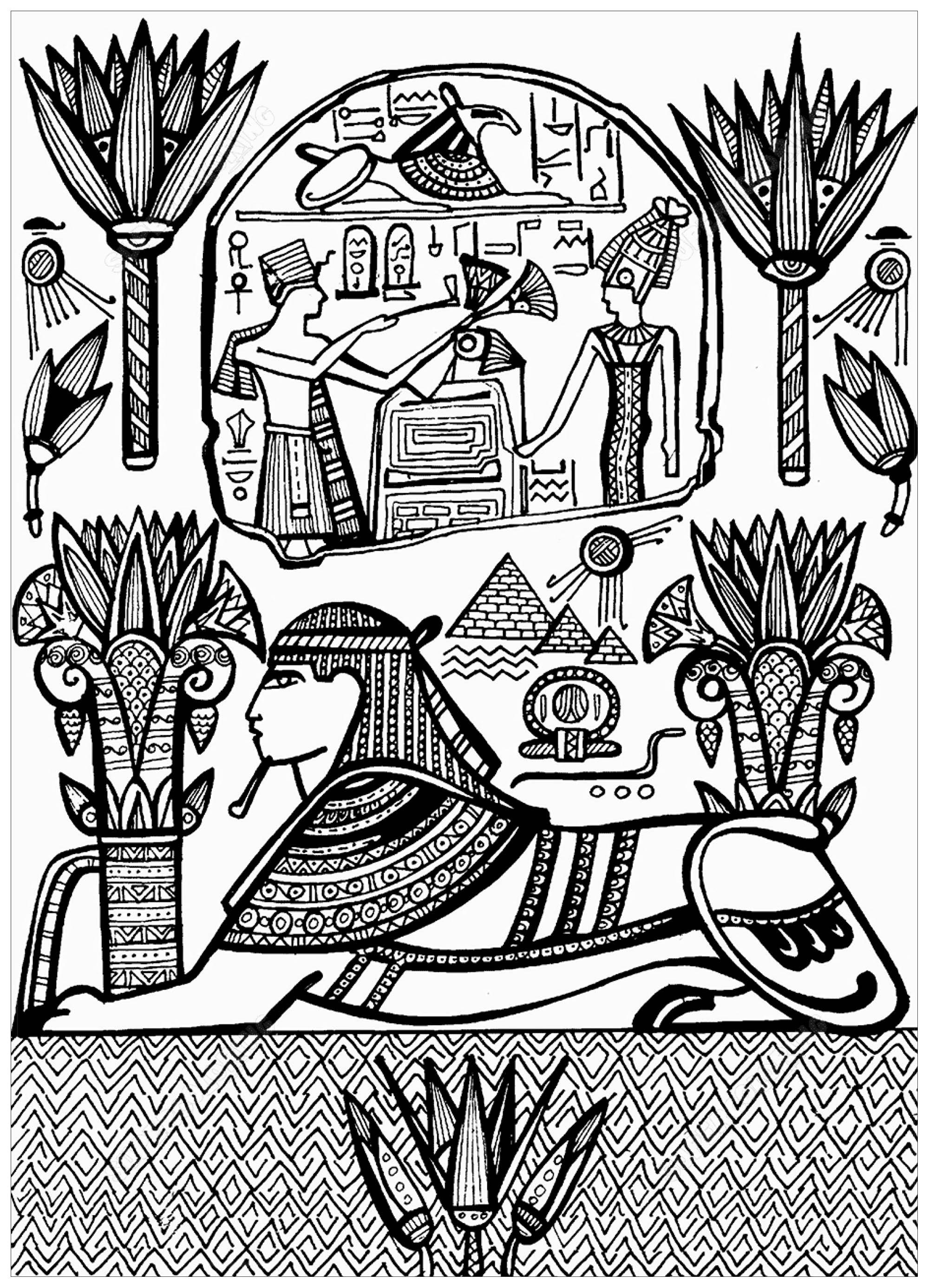 Sphynx And Hieroglyphs