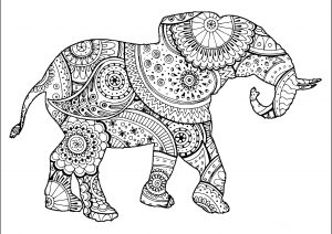 Elephants Coloring Pages For Adults