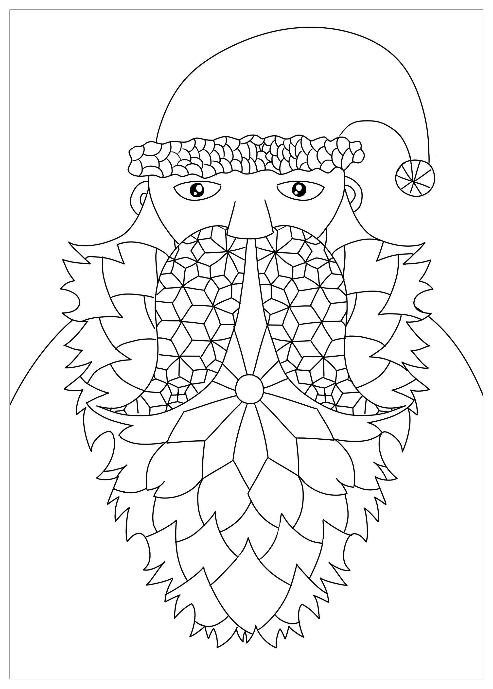 Nightmare Before Christmas Santa Coloring Page