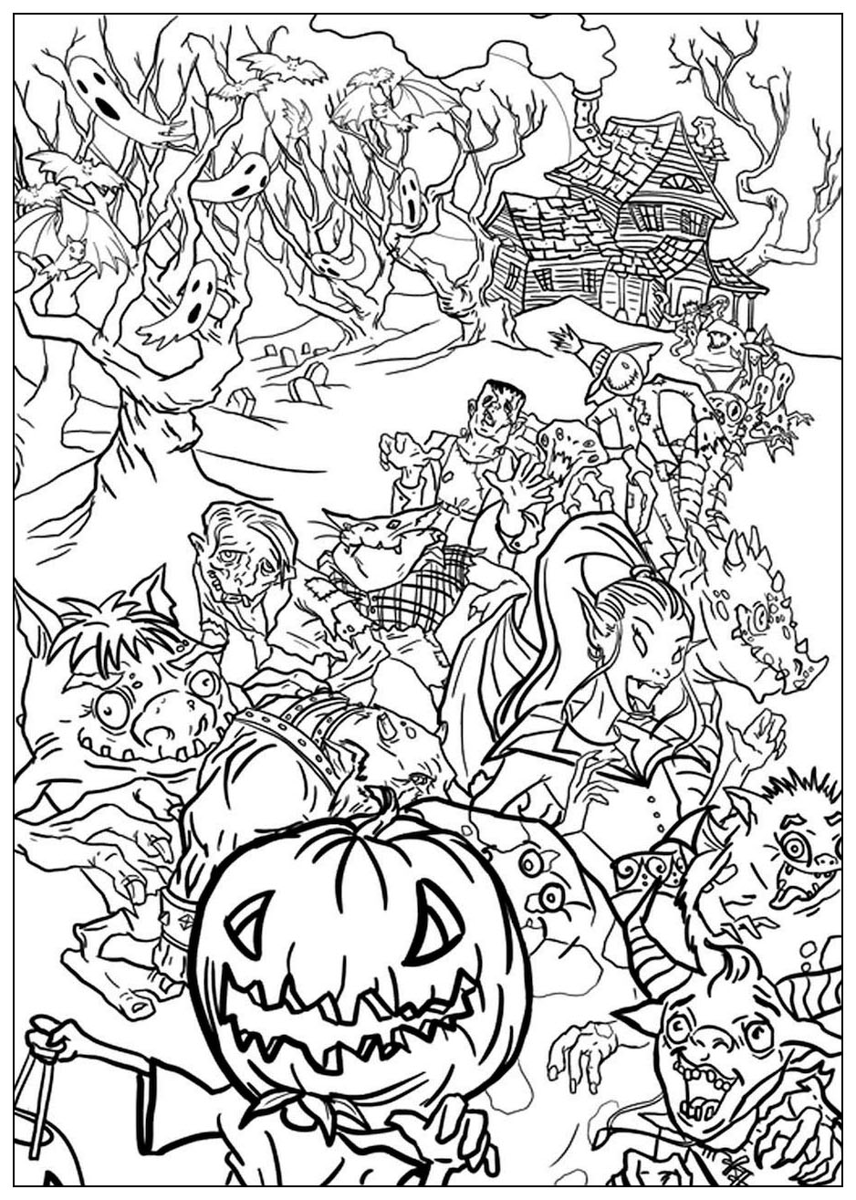 Scary Monster Coloring Pages Free Coloring Pages Download   Xsibe ...