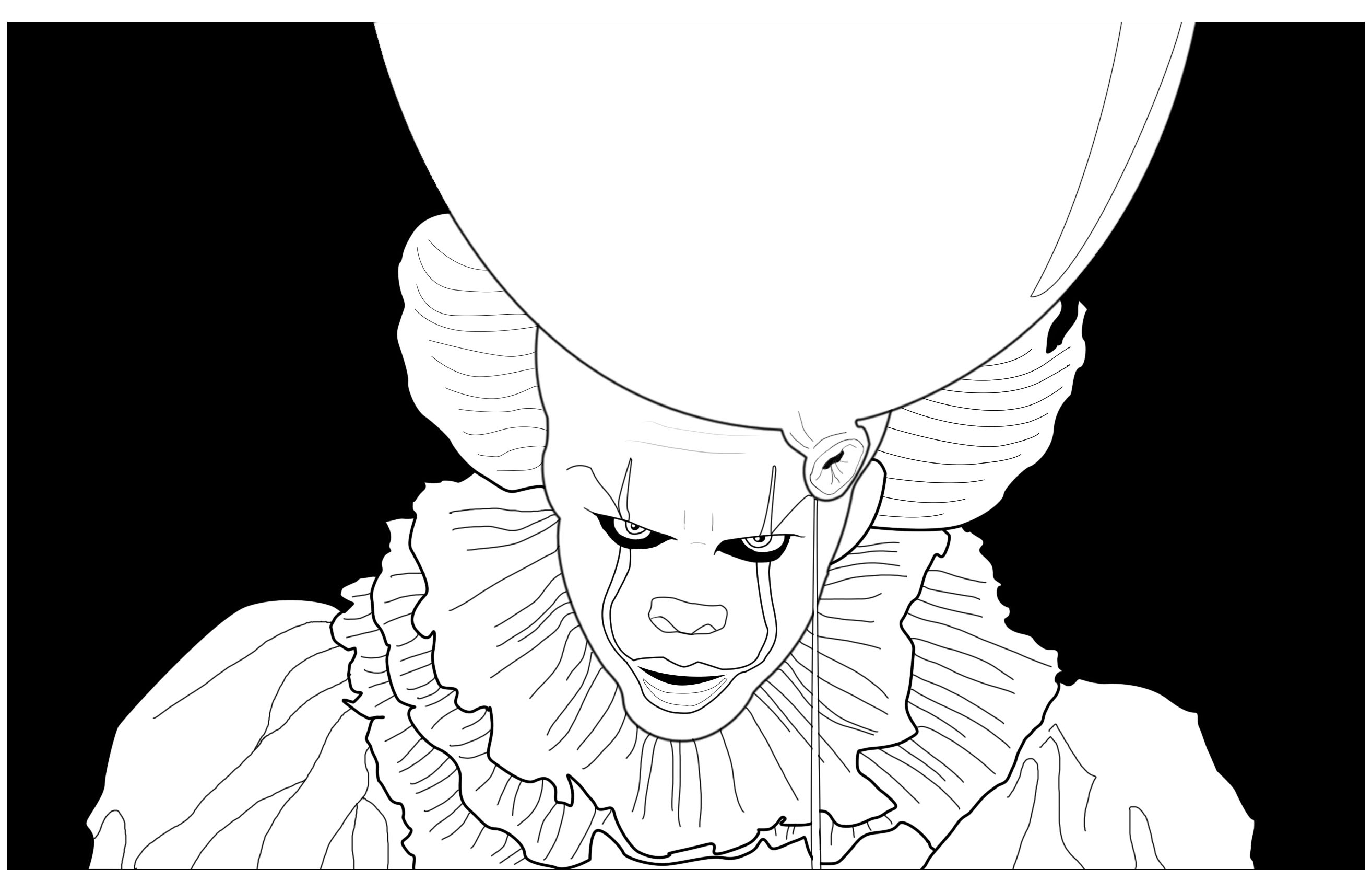 Ca Clown Pennywise Black Background