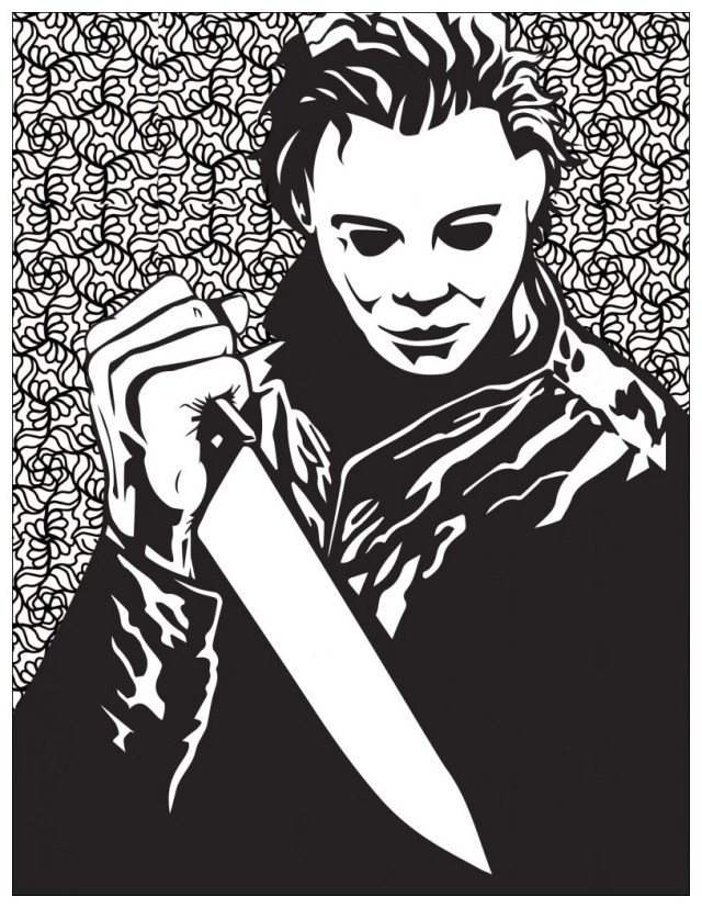 Horror michael myers - Halloween Adult Coloring Pages