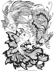 Fishes Coloring Pages For Adults