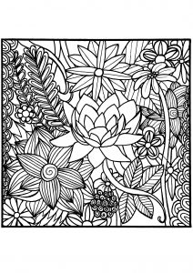 coloring pages flower # 31
