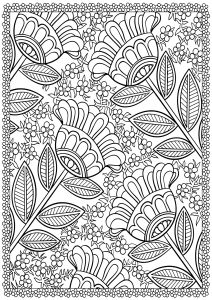 Flowers Amp Vegetation Coloring Pages For Adults