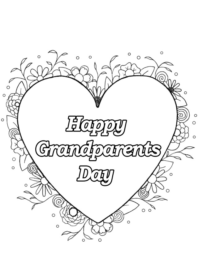 Grandparents day 27 - Grandparents Day Adult Coloring Pages