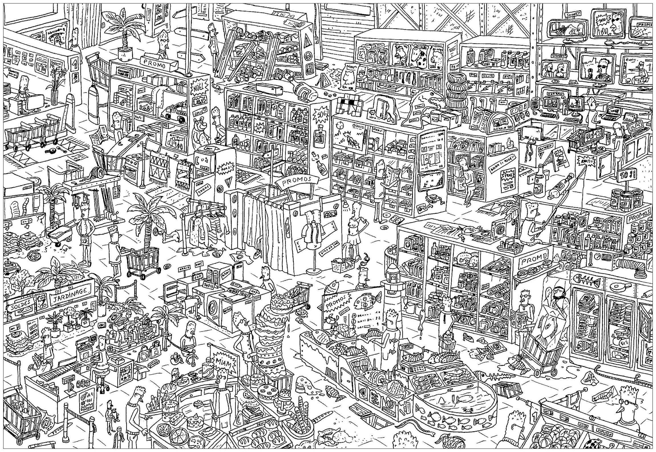 Wheres Wally Colouring Pages