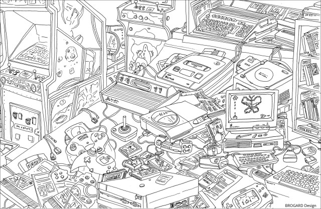 Retro gaming - Unclassifiable Adult Coloring Pages