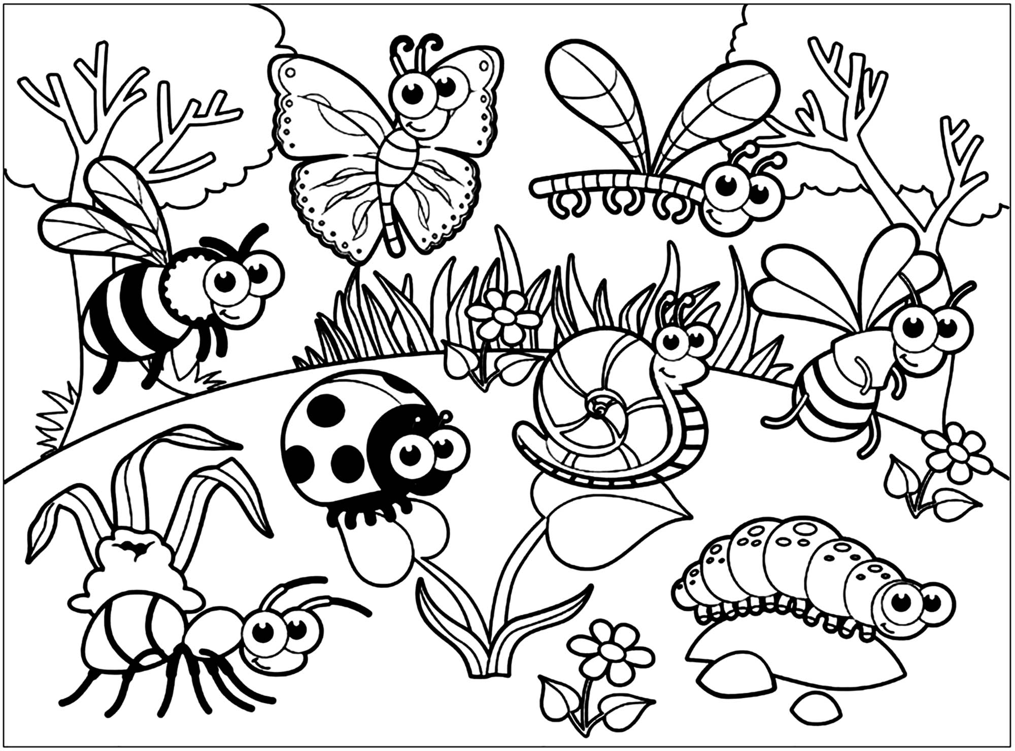 Ant Coloring Worksheet