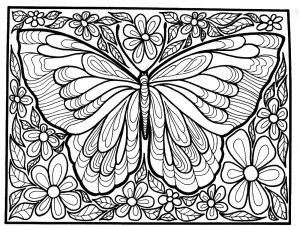 butterfly coloring pages for adults # 10