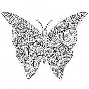 butterfly coloring pages for adults # 31