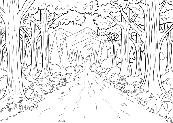 jungle coloring page # 14