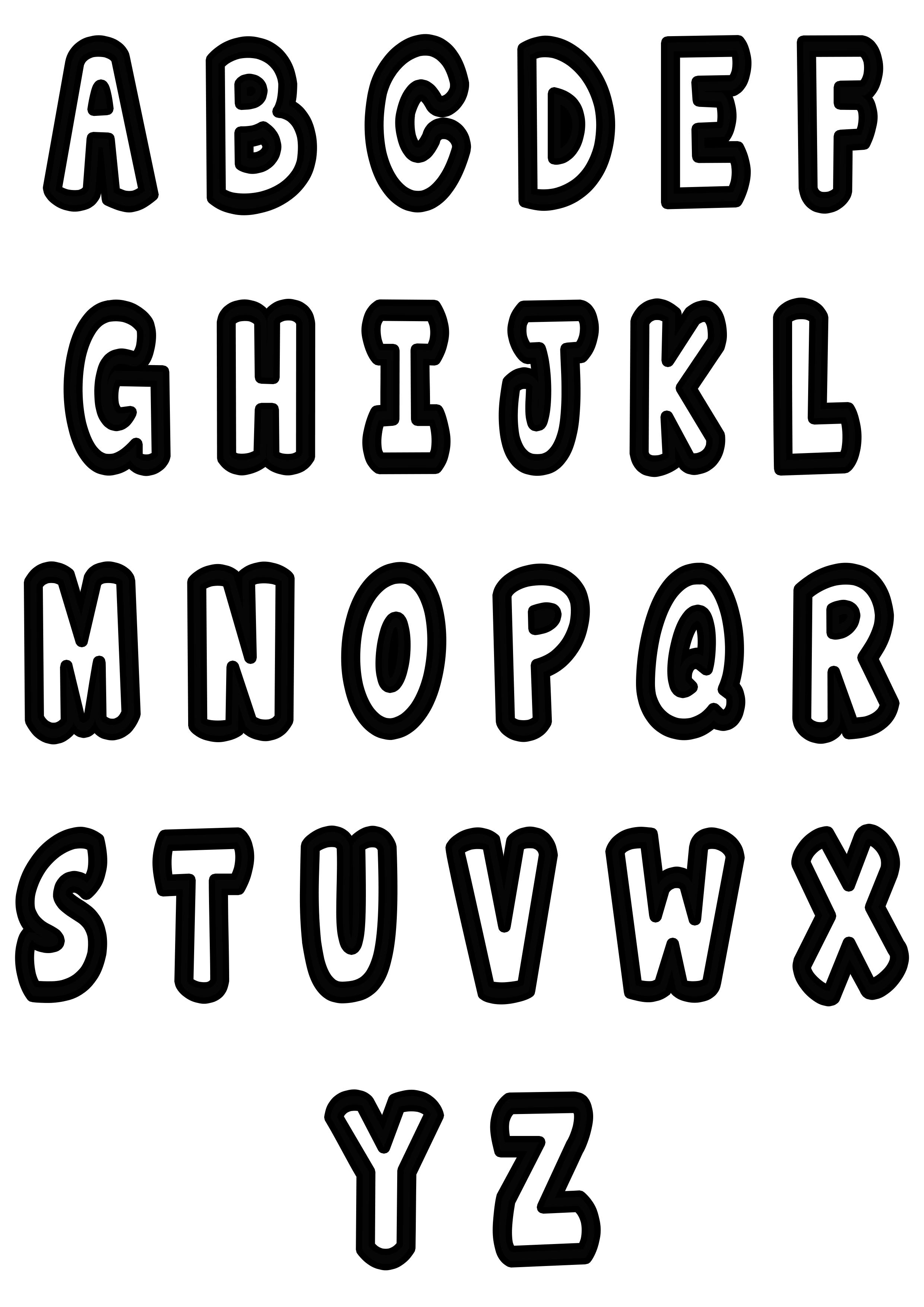 Simple Alphabet 2
