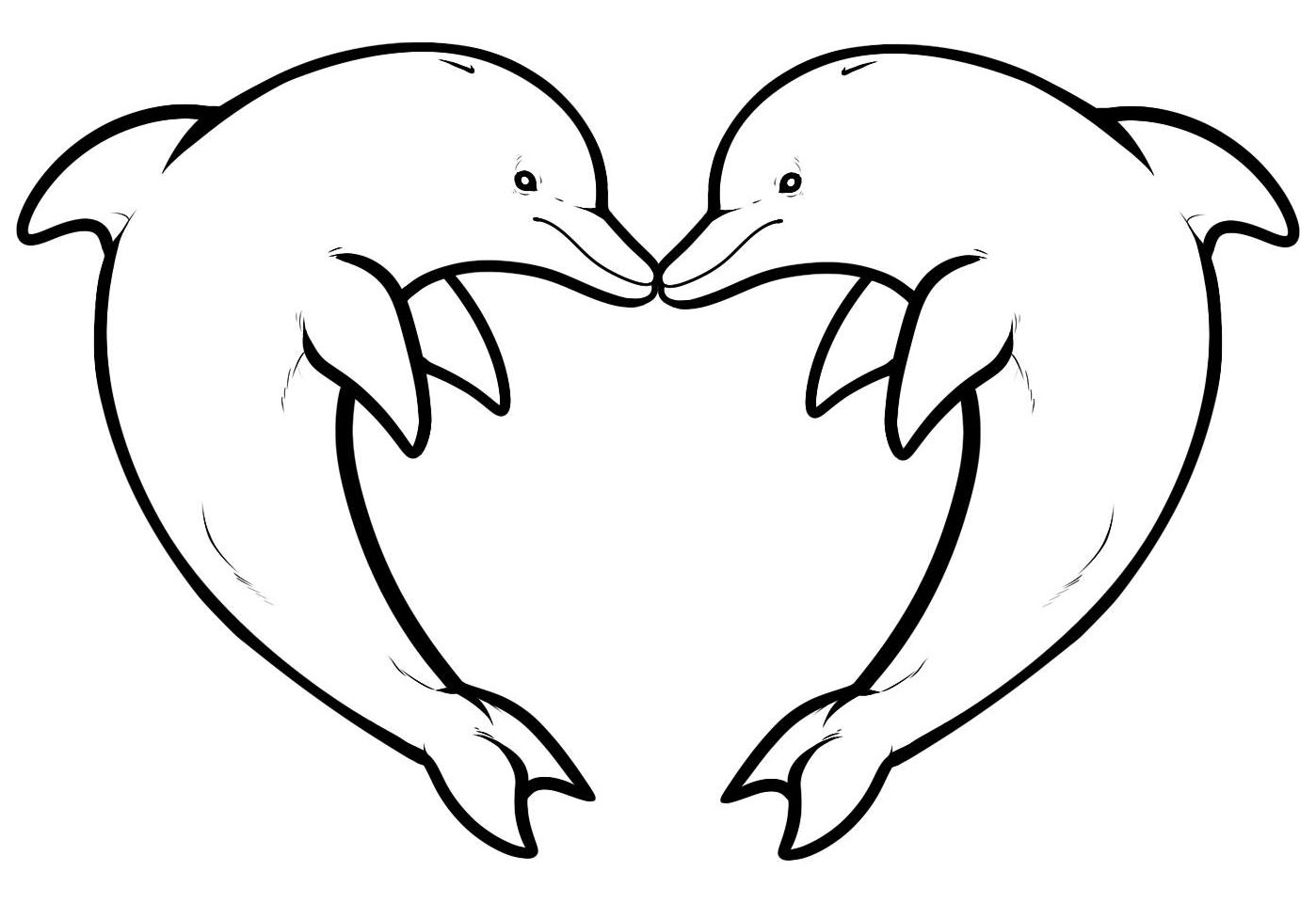 Dolphin Heart Coloring Pages Cool Dolphin Tale Coloring Pages