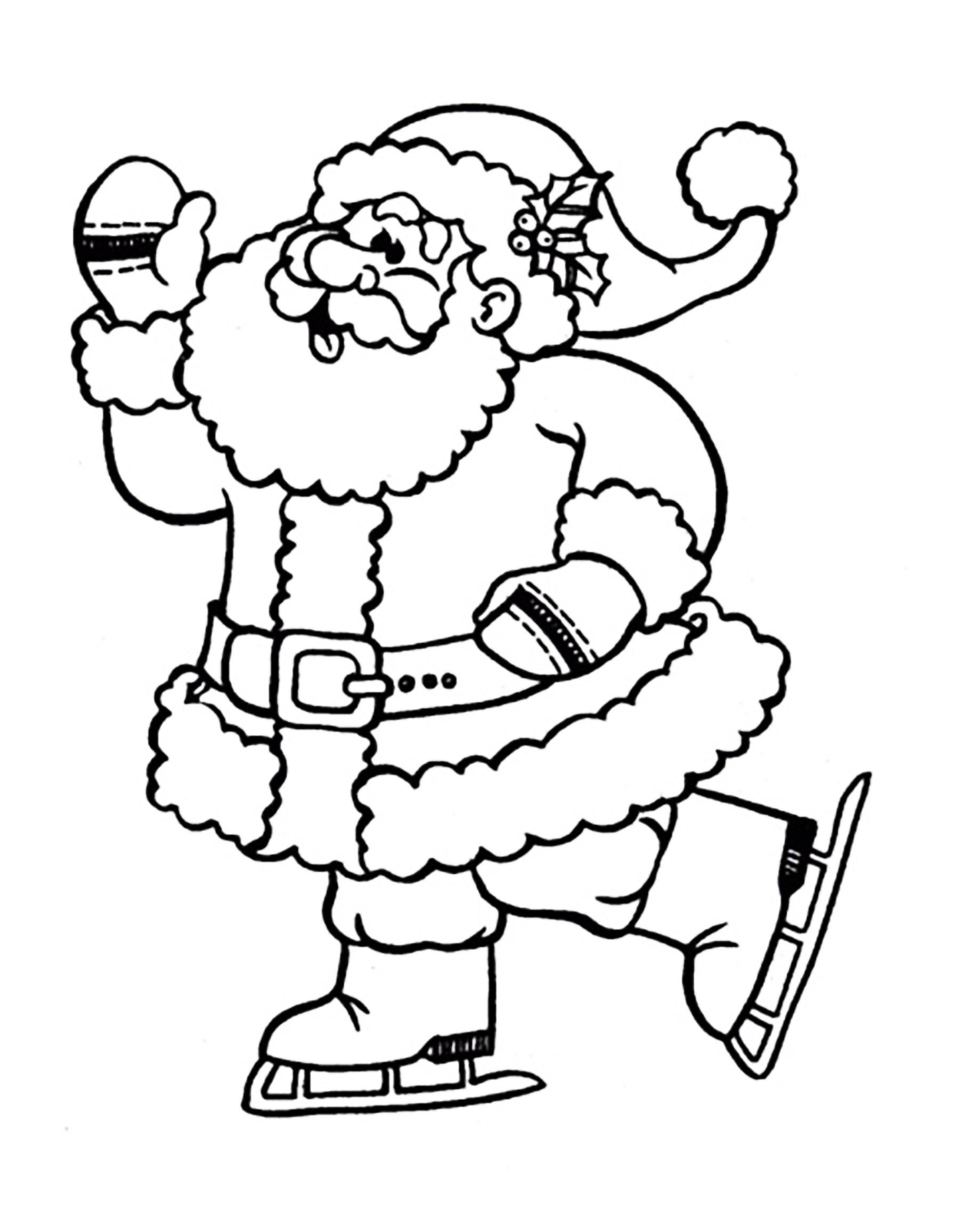 Santa Claus Ice Skating