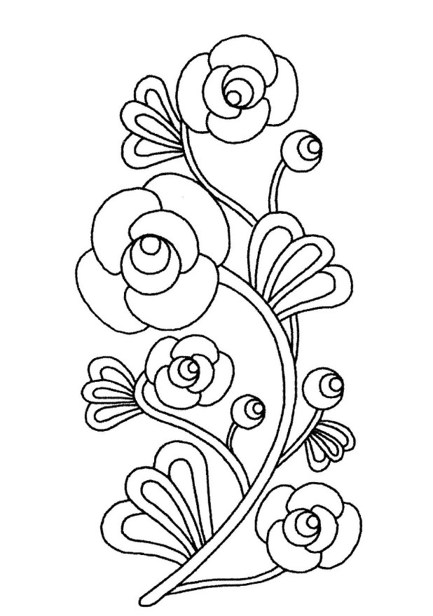 Cartoon Pictures Of Flowers To Color