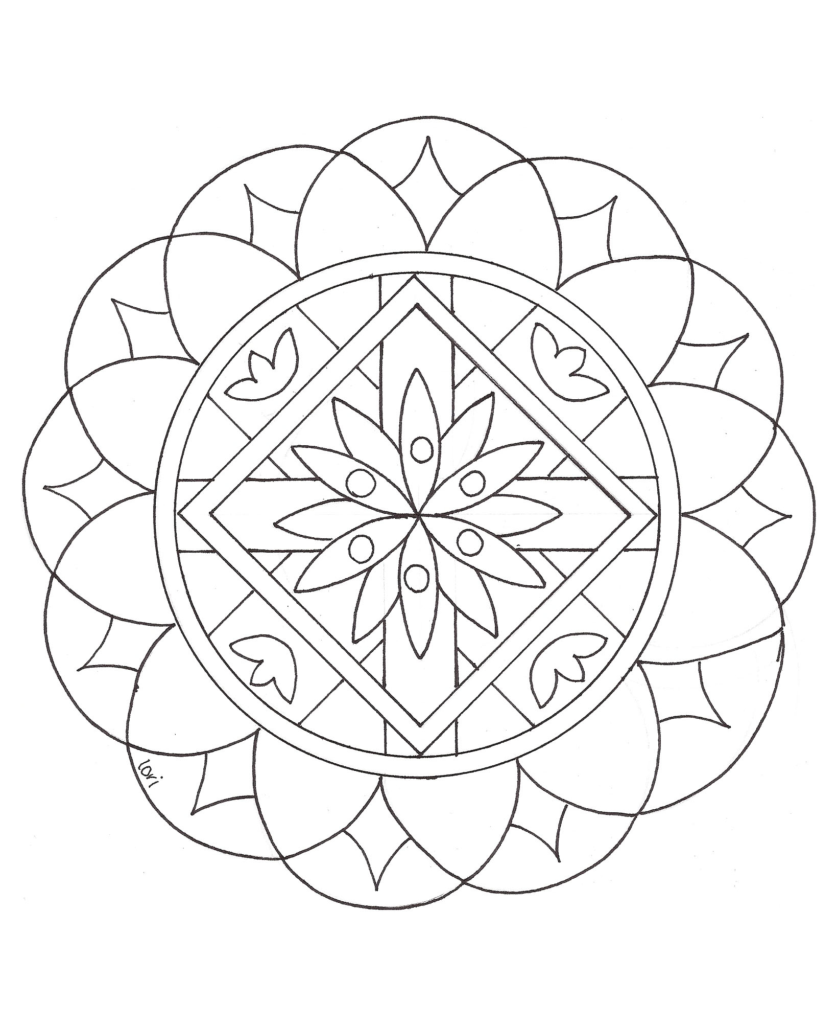 Simple Mandala 2 Mampalas Coloring Pages For Kids To Print
