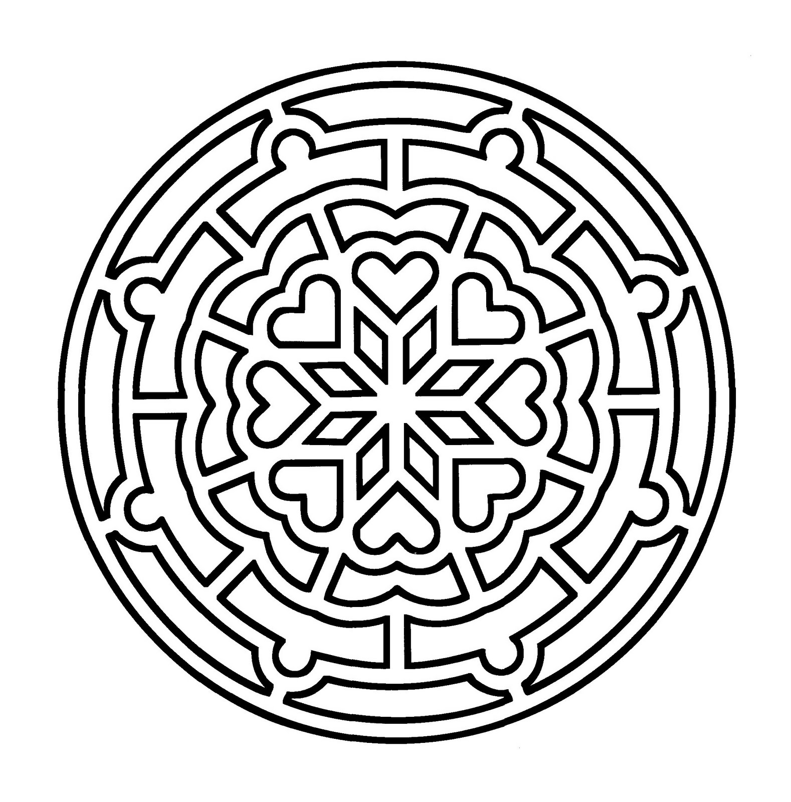 Simple Mandala Coloring Pages Free Coloring Pages Download   Xsibe ...