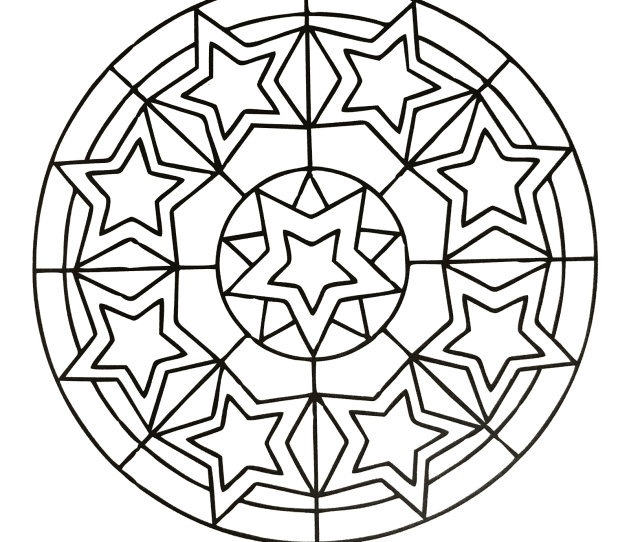 Simple Mandala  Mandalas Coloring Pages For Kids To Print Color