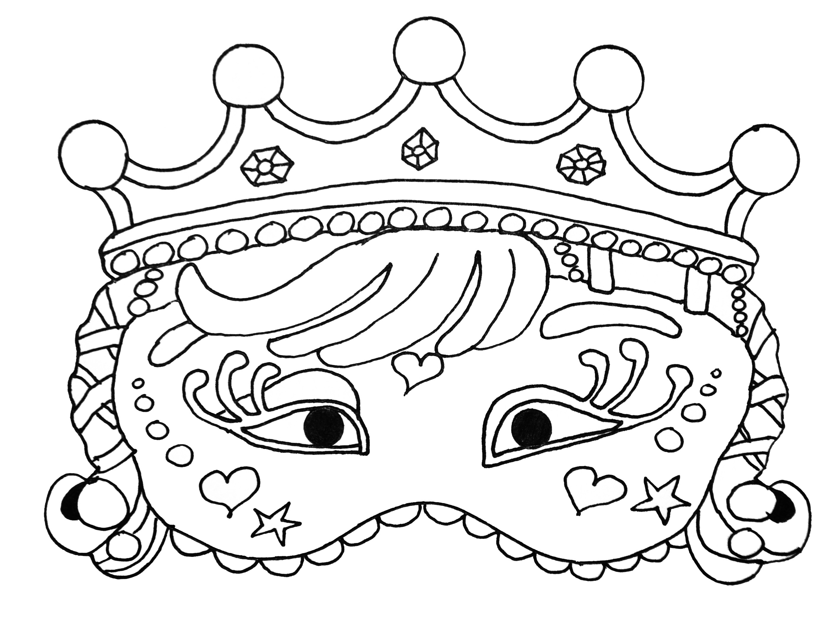 Carnival Mask For Kid 3 Masks Coloring Pages For Kids To Print
