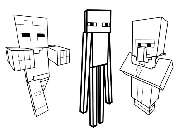 minecraft coloring pages to print # 42