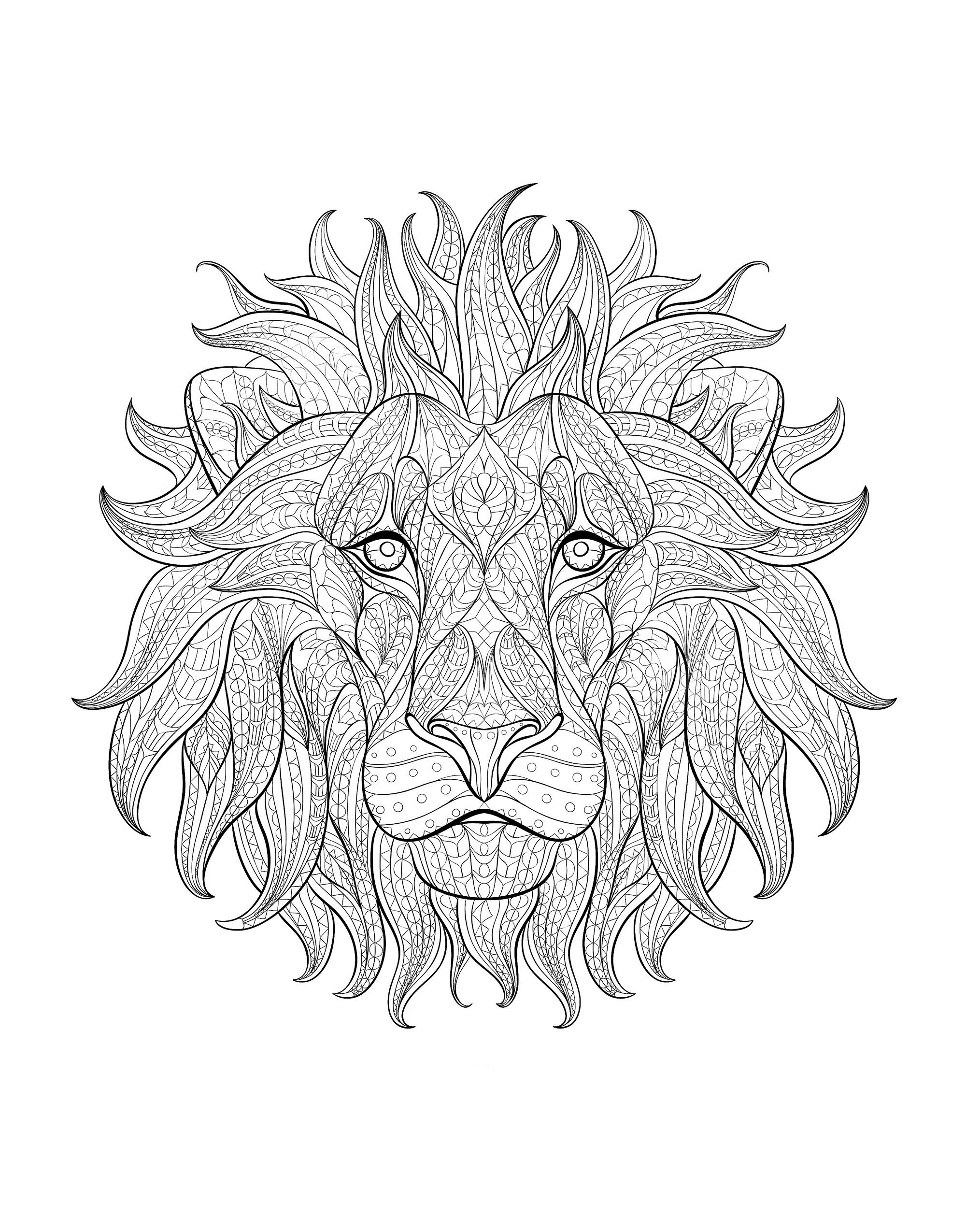 Lions Coloring Pages For Adults Justcolor