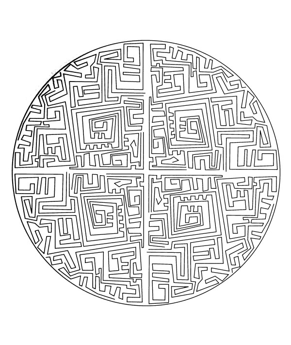 maze coloring pages # 14