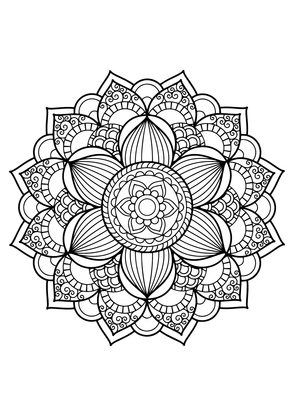 Mandala from free coloring books for adults 17 - M&alas ...   coloring books for adults mandala