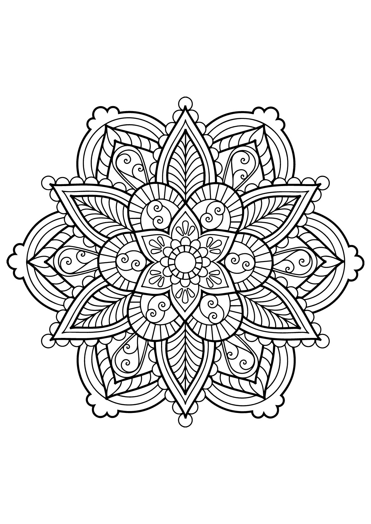 Mandala from free coloring books for adults 28 - M&alas ...   coloring books for adults mandala