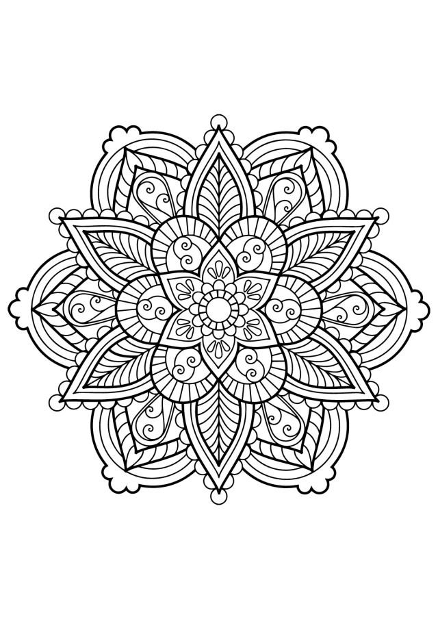 Mandala from free coloring books for adults 9 - Mandalas Adult
