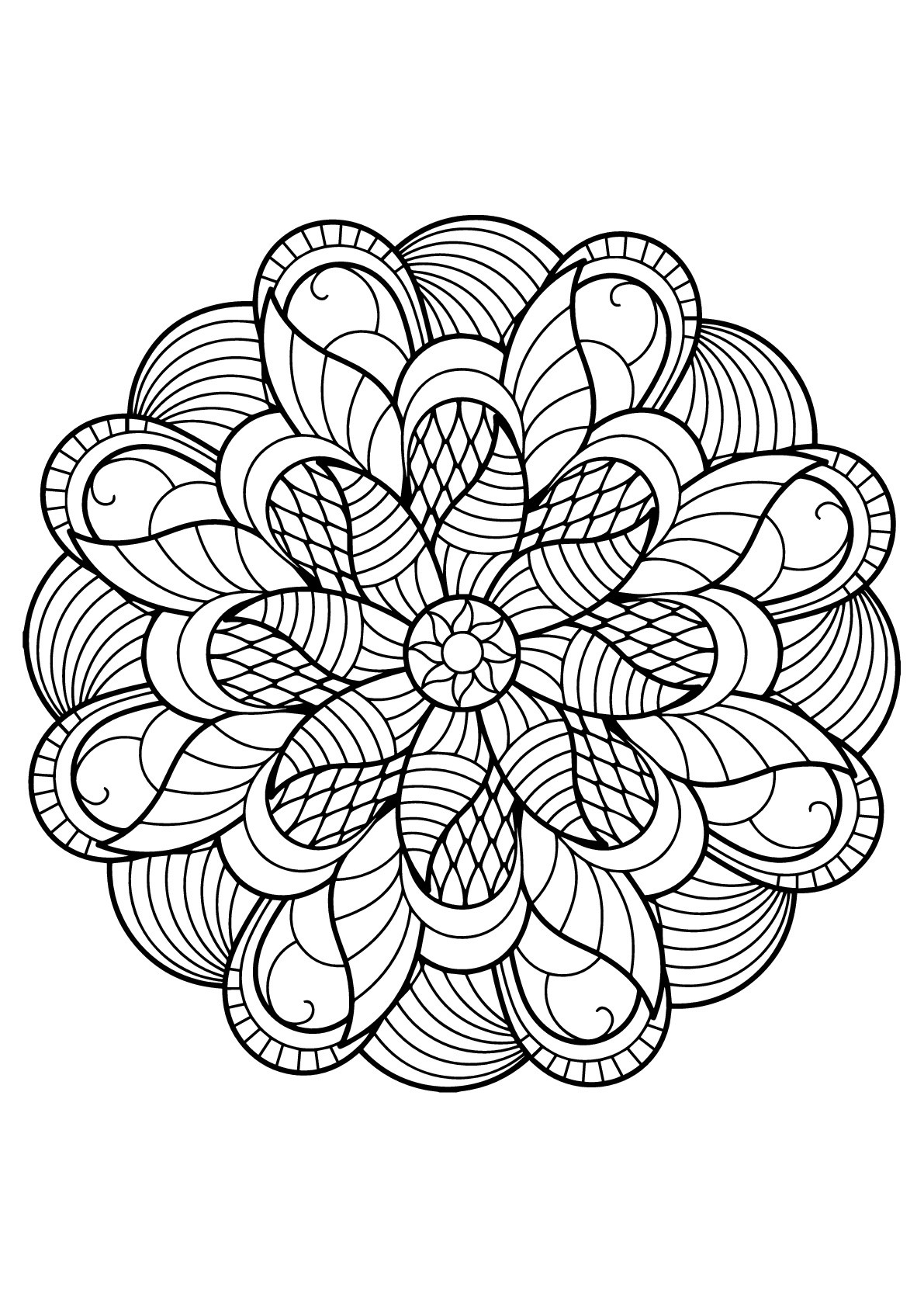 Mandala from free coloring books for adults 6 - Mandalas ...   coloring books for adults mandala