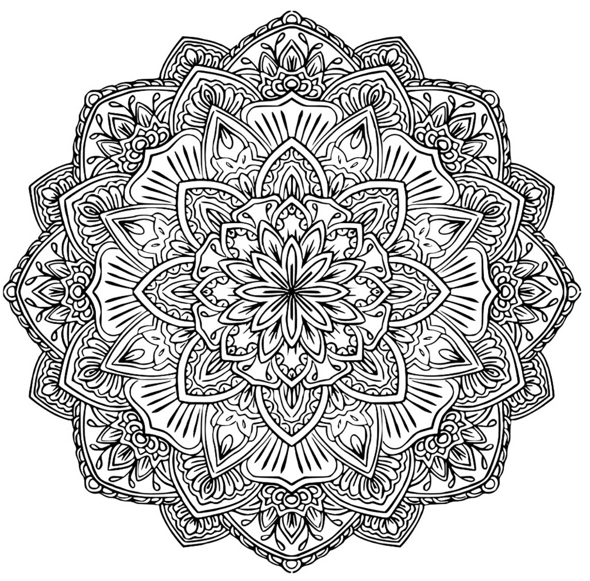Mandala to download in pdf 1 - M&alas Adult Coloring Pages | free mandala colouring pages for adults