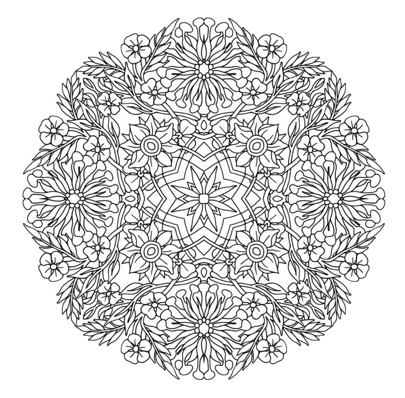 Mandala To Download In Pdf 9 Mandalas Coloring Pages For