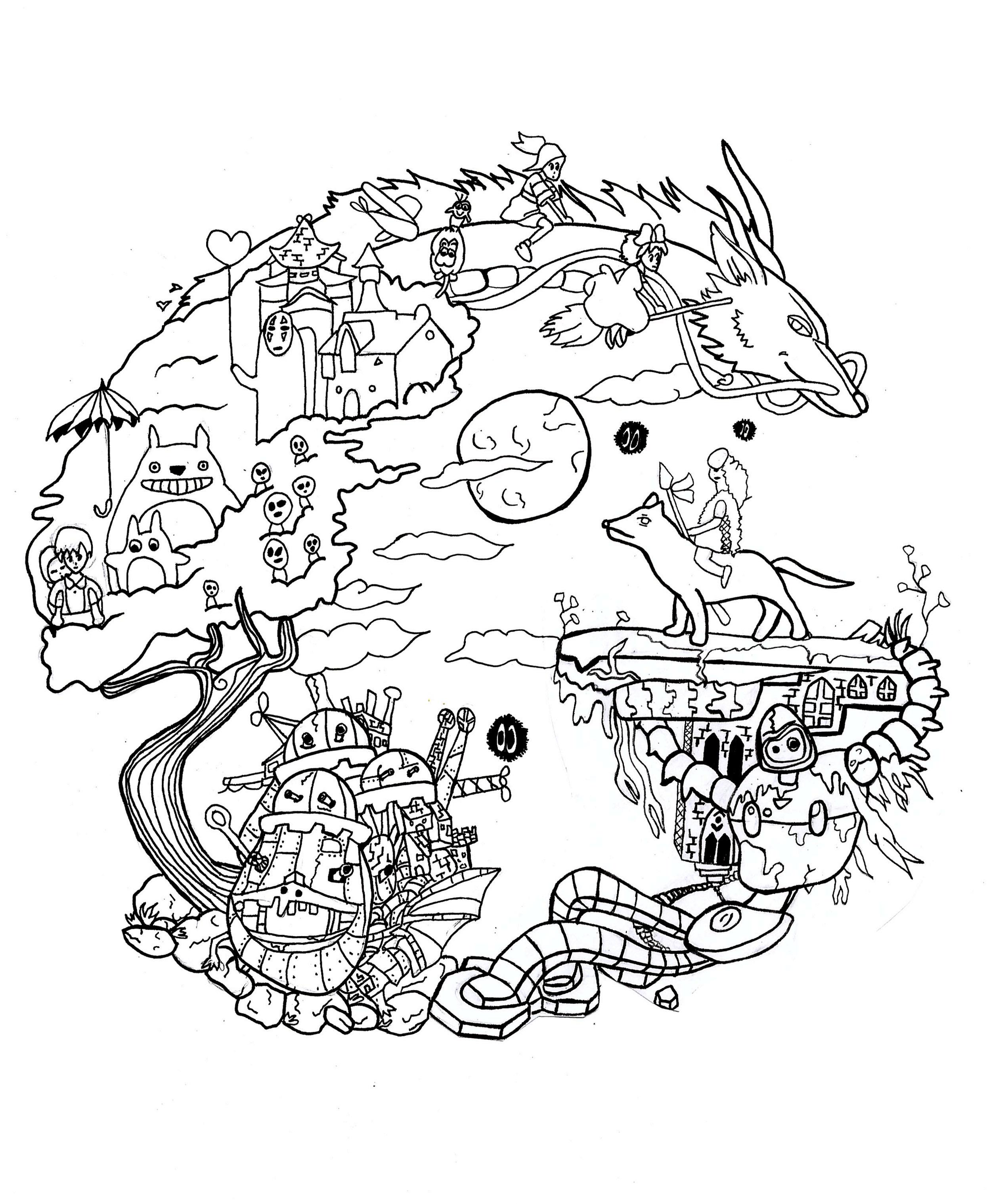 Kawaii Chibi Coloring Pages Cats