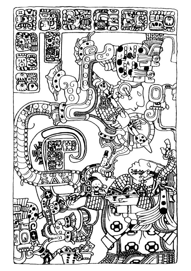 Maya art british museum 26 - Mayans & Incas Adult Coloring Pages