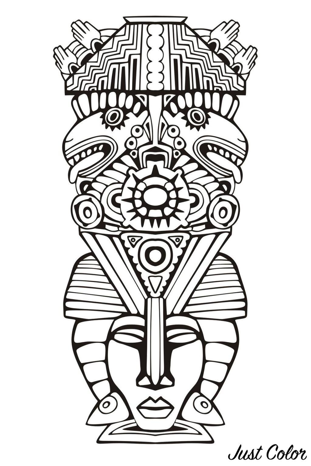 Totem Inspiration Inca Mayan Aztec 6