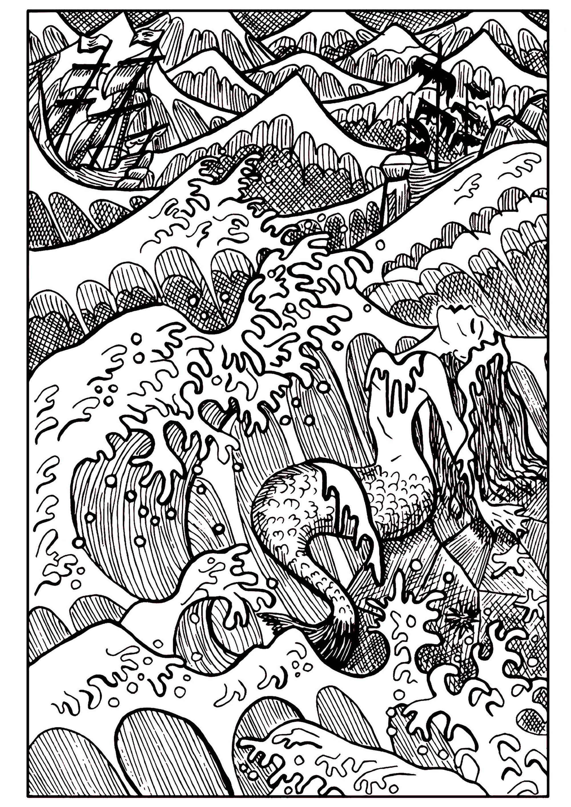 Mermaid In The Sea Mermaids Adult Coloring Pages