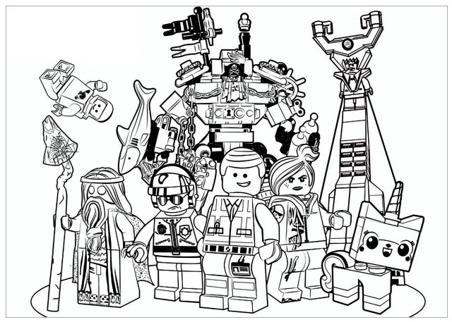Lego movie - Movies Adult Coloring Pages