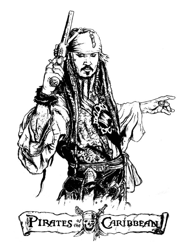 pirates of the caribbean coloring pages # 13