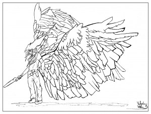 Myths Amp Legends Coloring Pages For Adults