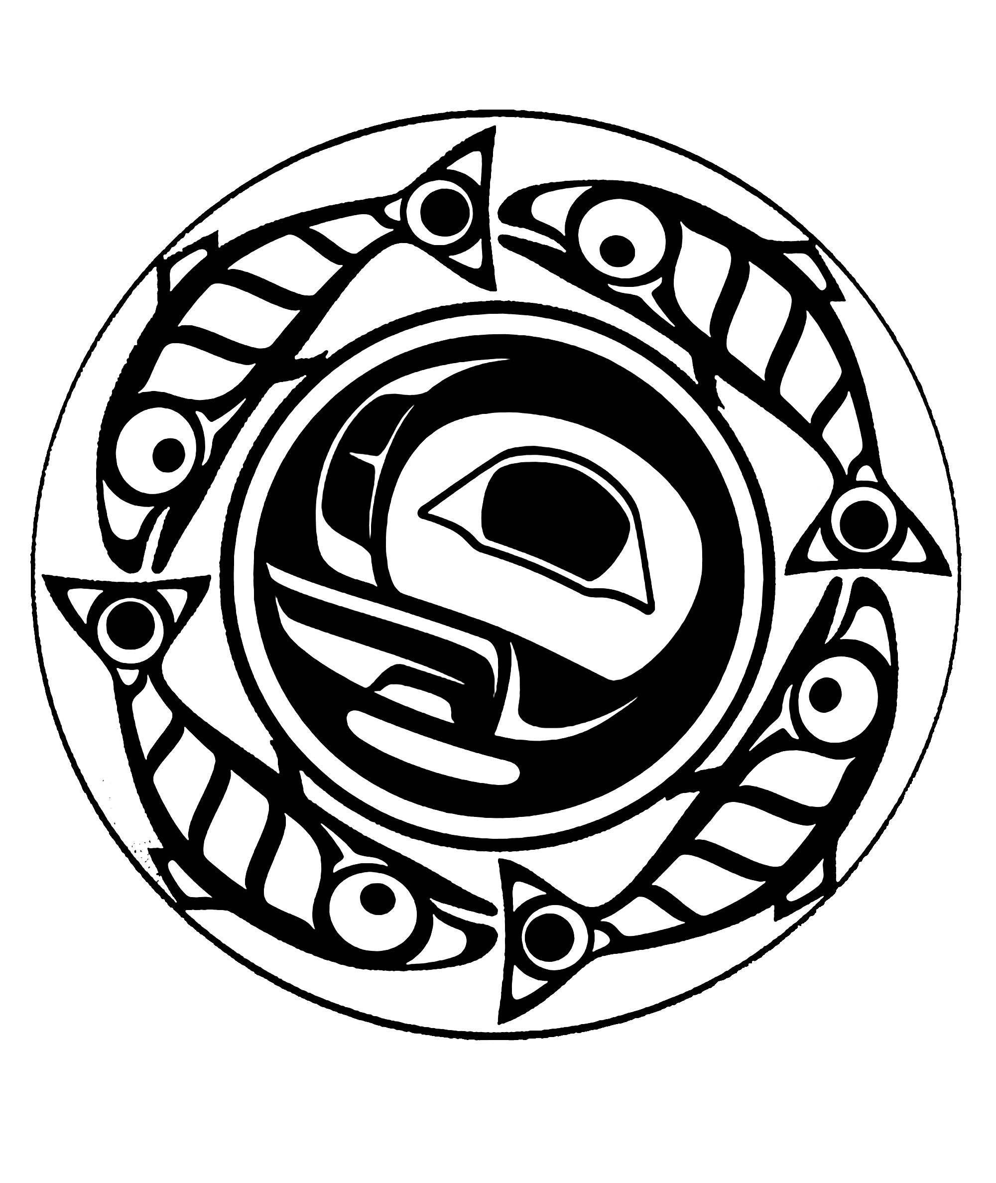Art Northwest Coastal People True Moon Mandala