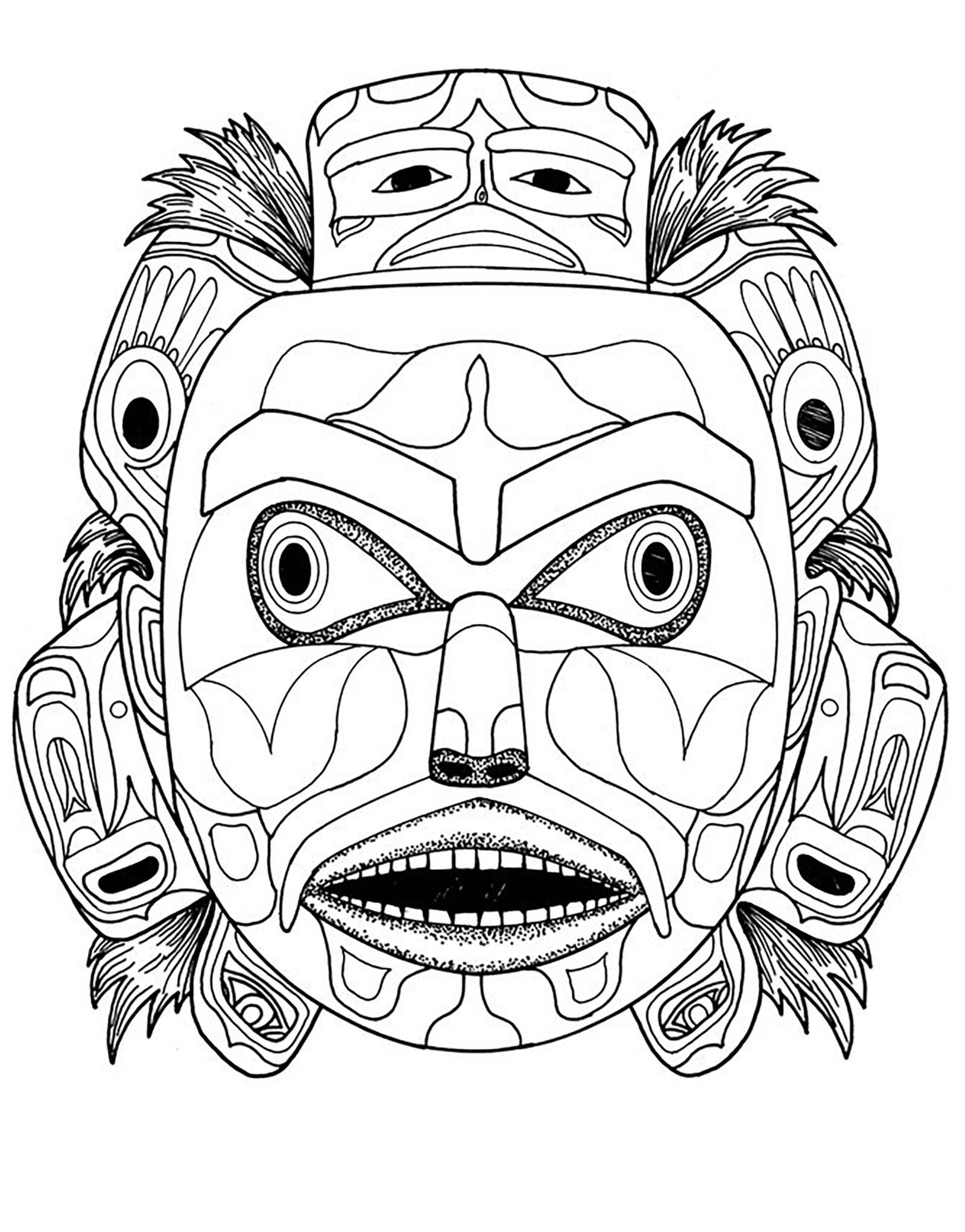 Kwakiutl Bear Spirit Mask