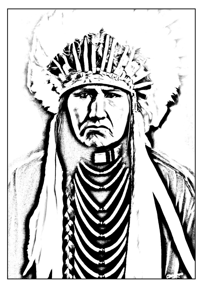 native american indian  native american adult coloring pages